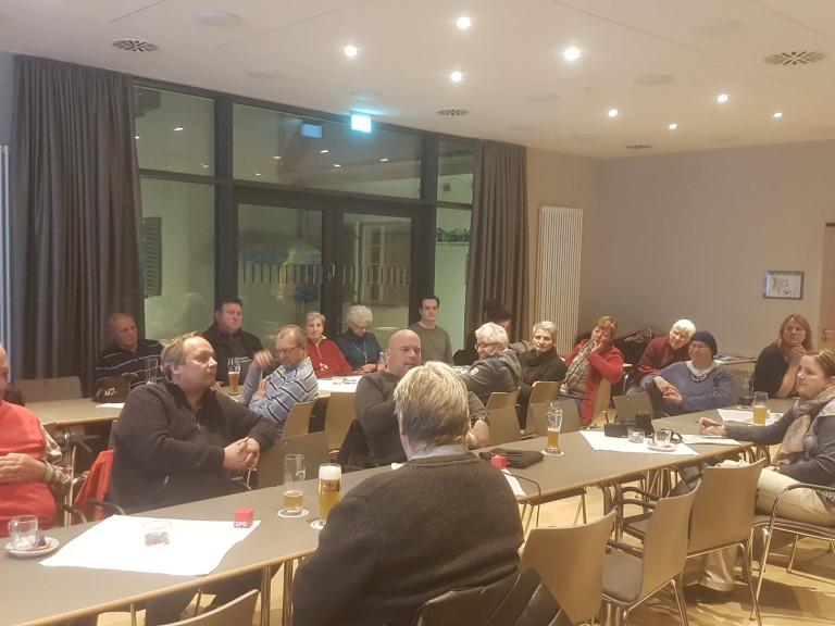 Diskussion zur GroKo, Stadthalle Penzberg, 20.02.2018